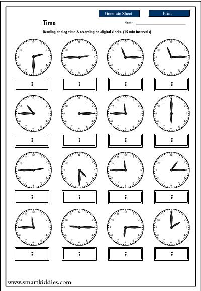 Number Names Worksheets free worksheets on time : Analog Time Worksheets - Davezan