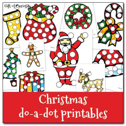 5 Images of Do A Dot Art Printables Christmas