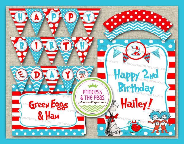 Dr. Seuss Birthday Party Printables