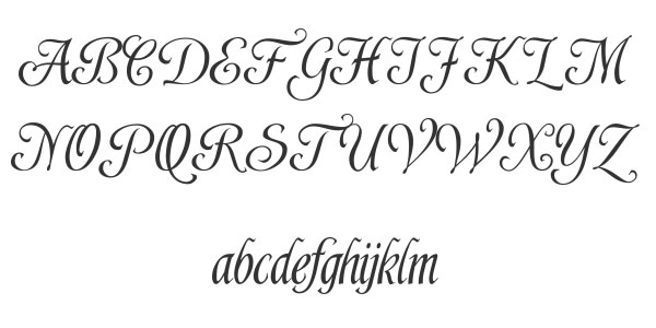 Best images of easy calligraphy script printable free