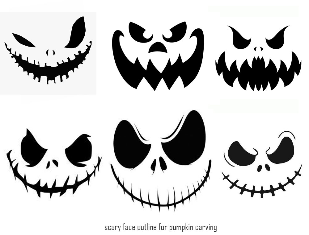 Best images of printable scary halloween faces