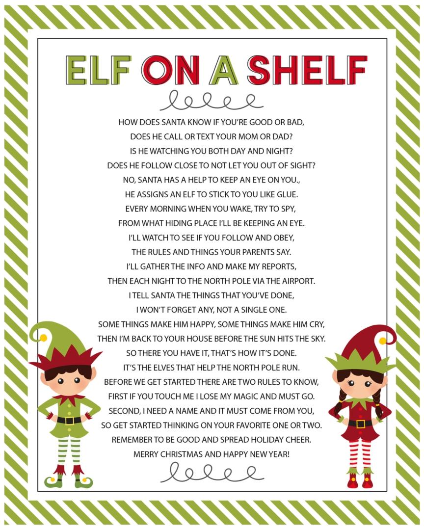 Elf On Shelf Letter Border
