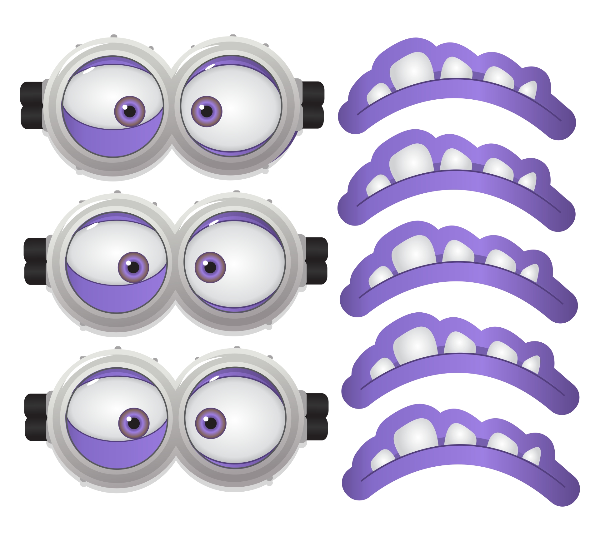 Evil Minion Eyes Printable