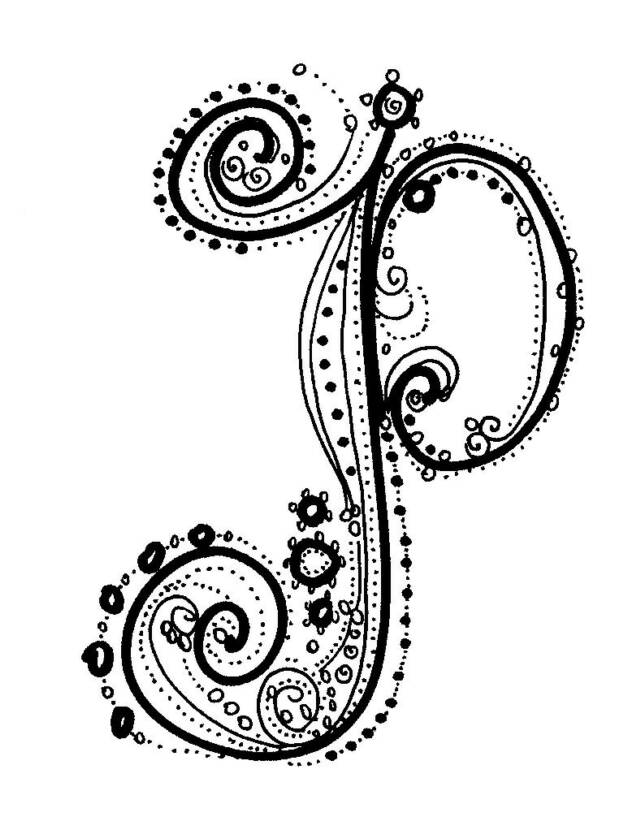 8 Images of Printable Fancy Letter P