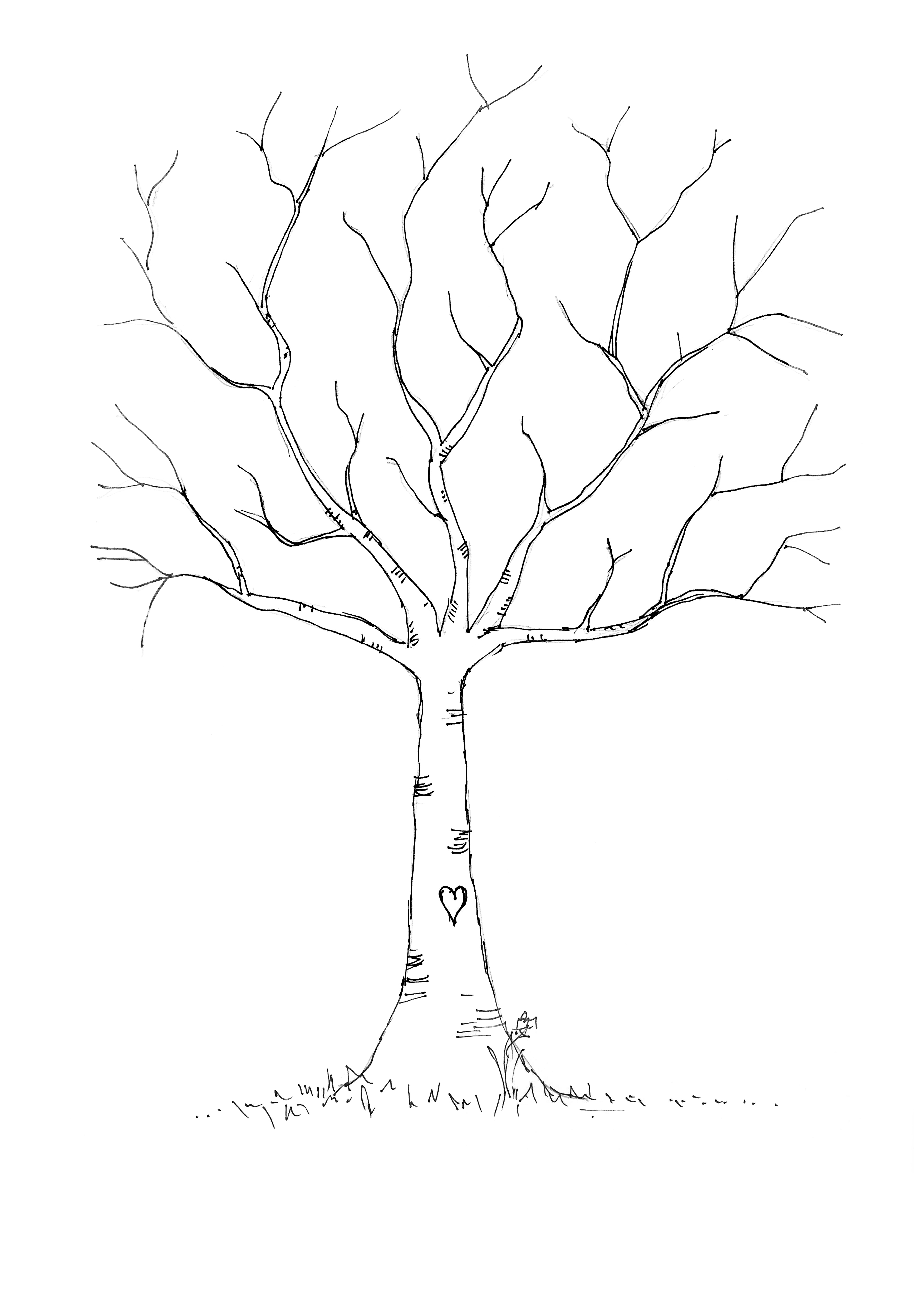 7 Images of Printable Tree Template With Leaves