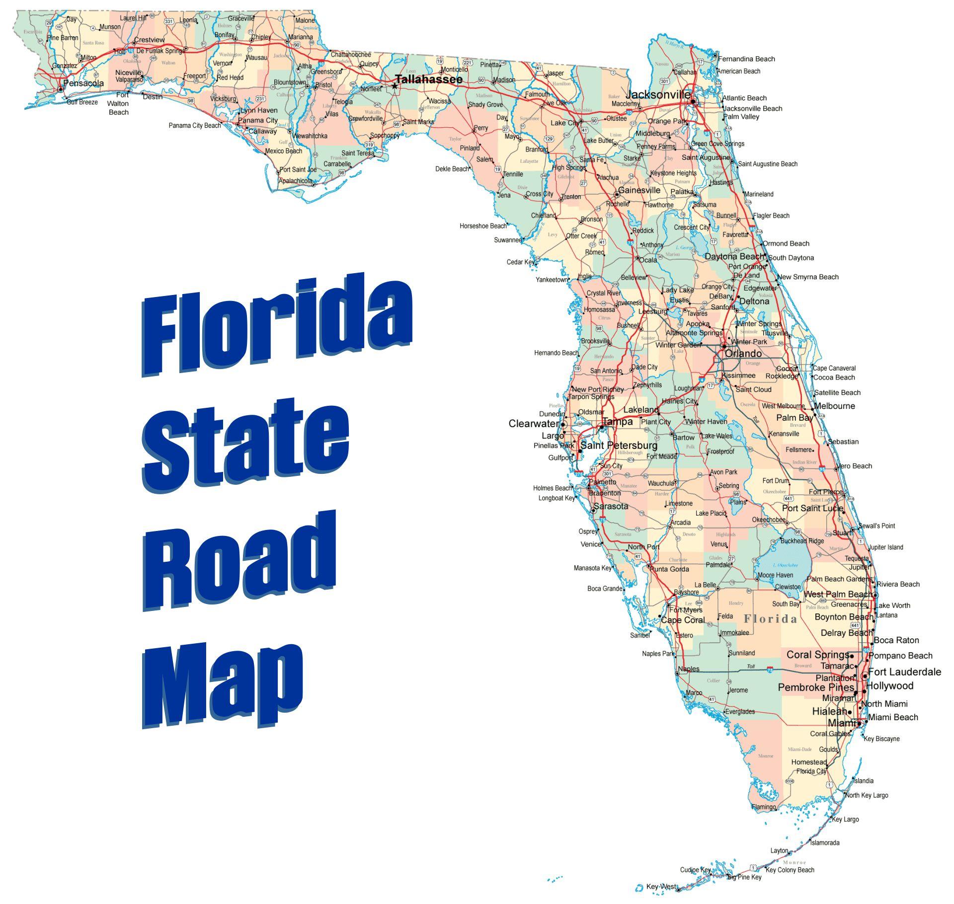 Florida State Road Map