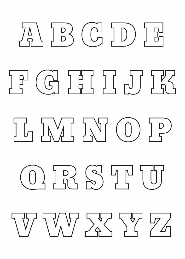Alphabet Letter Stencil Templates