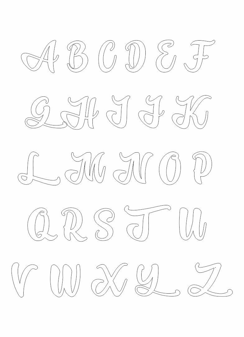 Alphabet Stencil Templates