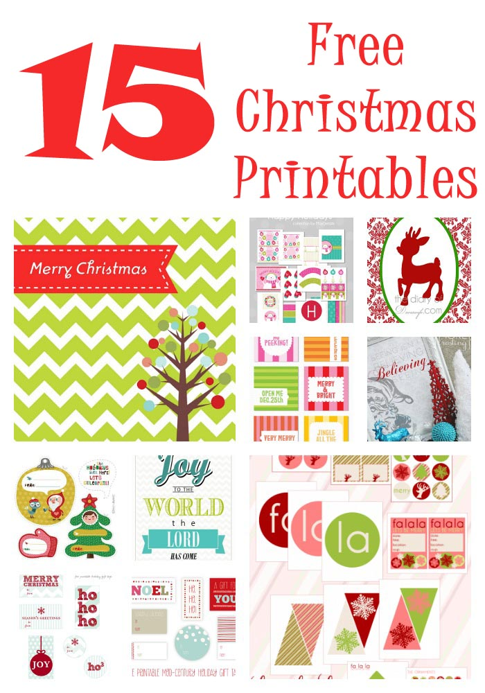 6 Images of Free Xmas Printables