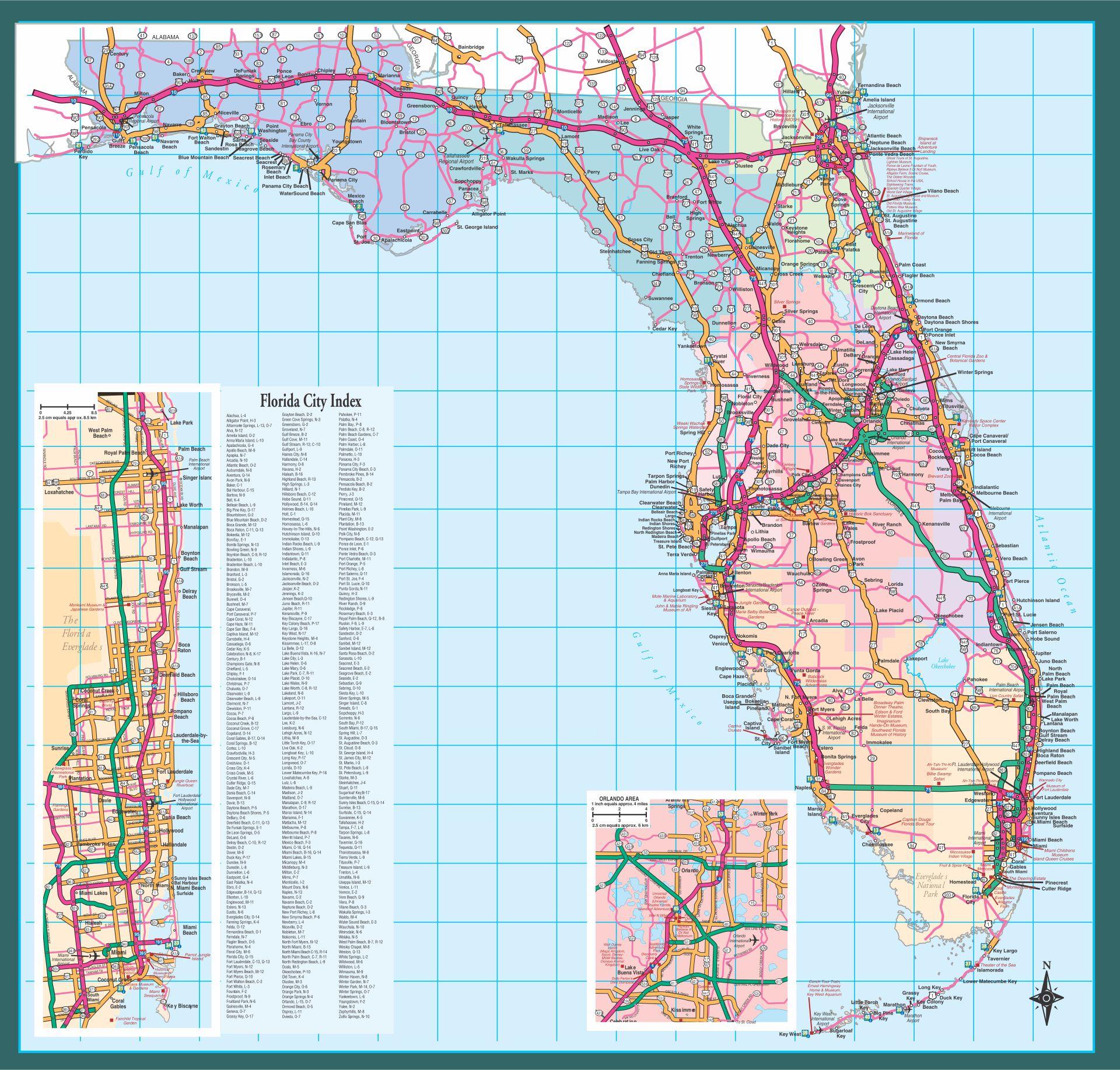Florida Road Map Printable