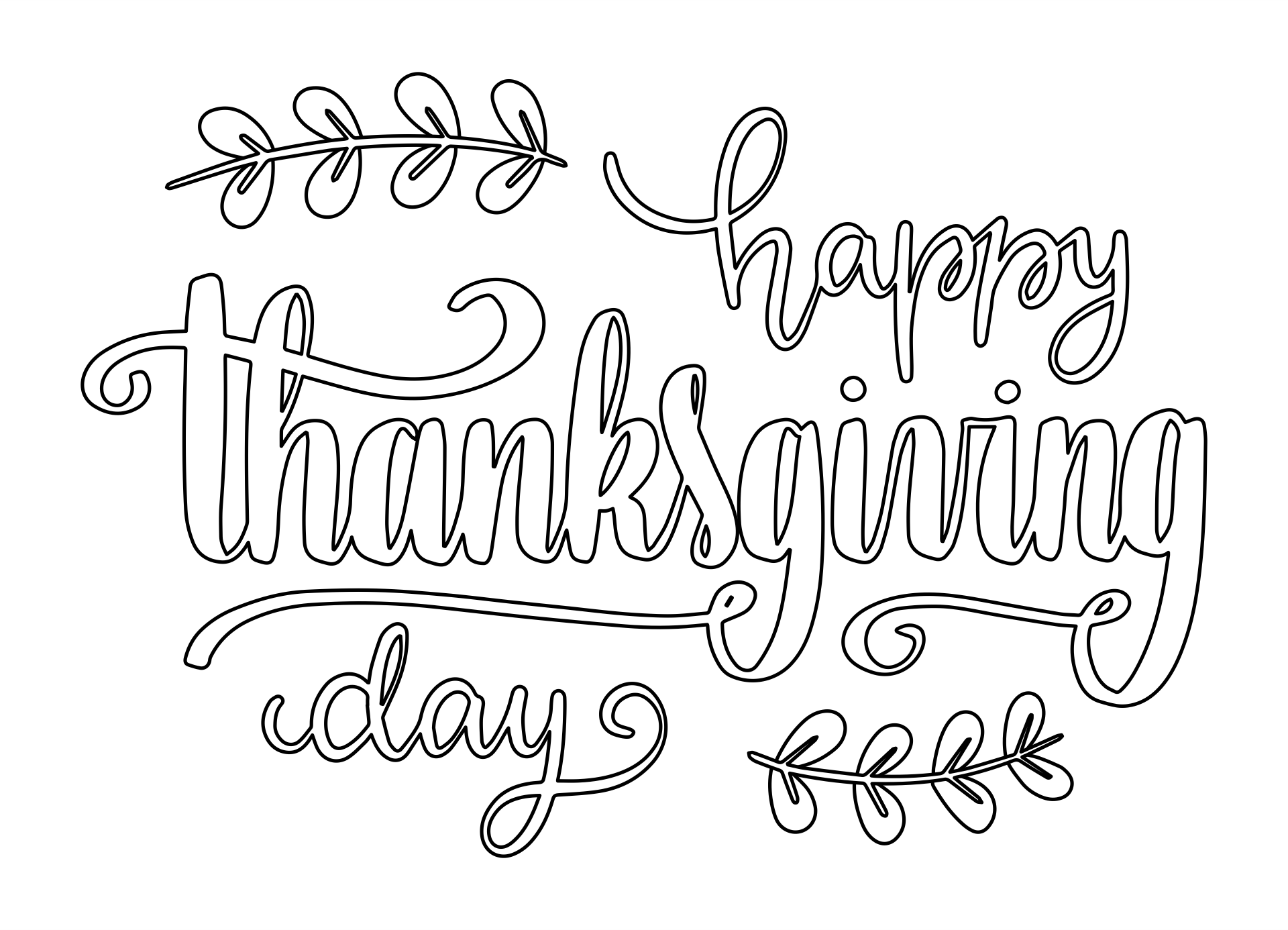 Free Happy Thanksgiving Digital Stamp