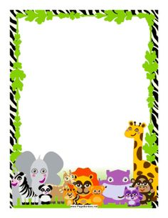 Free Jungle Borders Printable