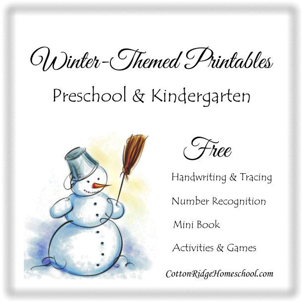 7 Images of Preschool Winter Theme Printables