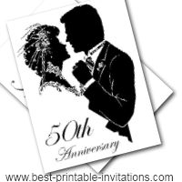 5 Images of Free Printable 50th Anniversary Cards