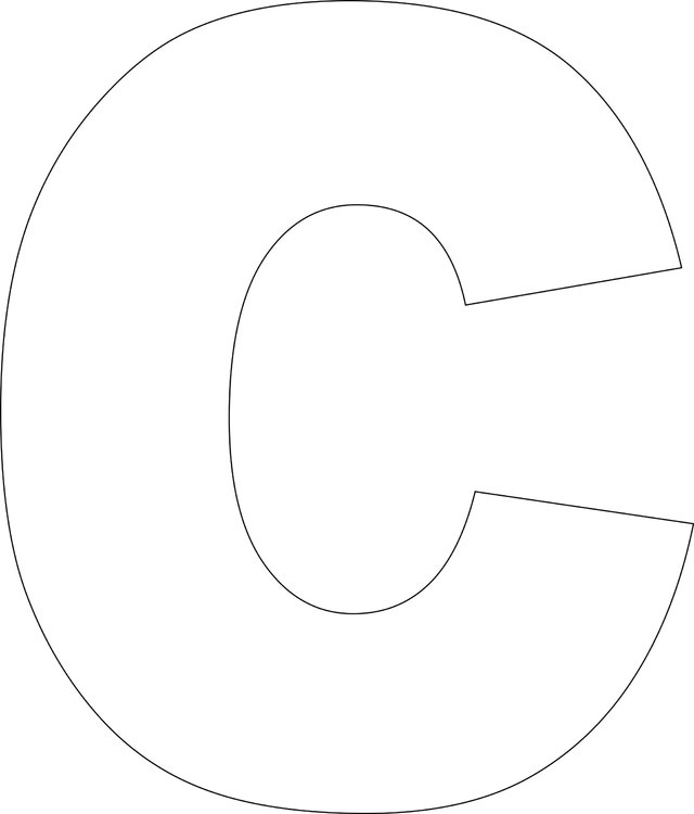 large letter c template 5 best images of printable block letter c printable