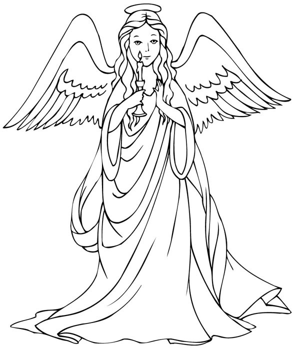 4 Images of Printable Coloring Pages Of Angels