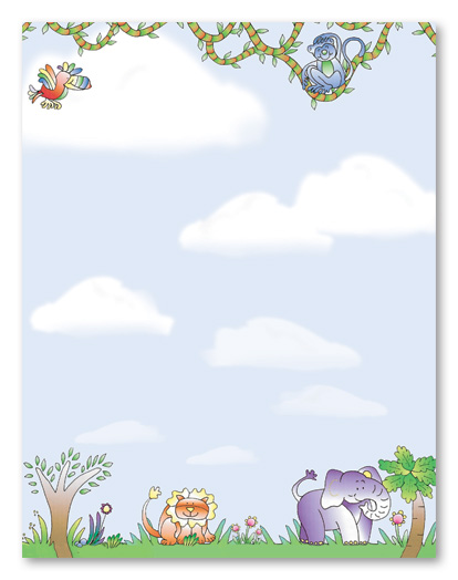 Free Printable Baby Jungle Animal Border