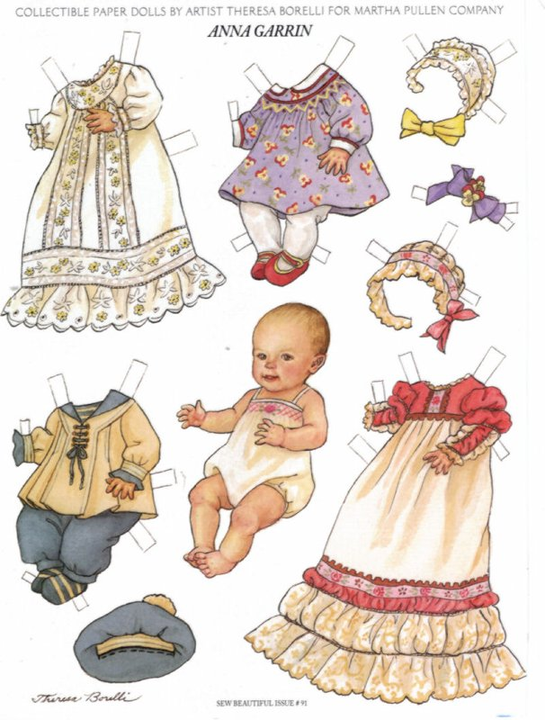 8 Images of Baby Paper Dolls Printable