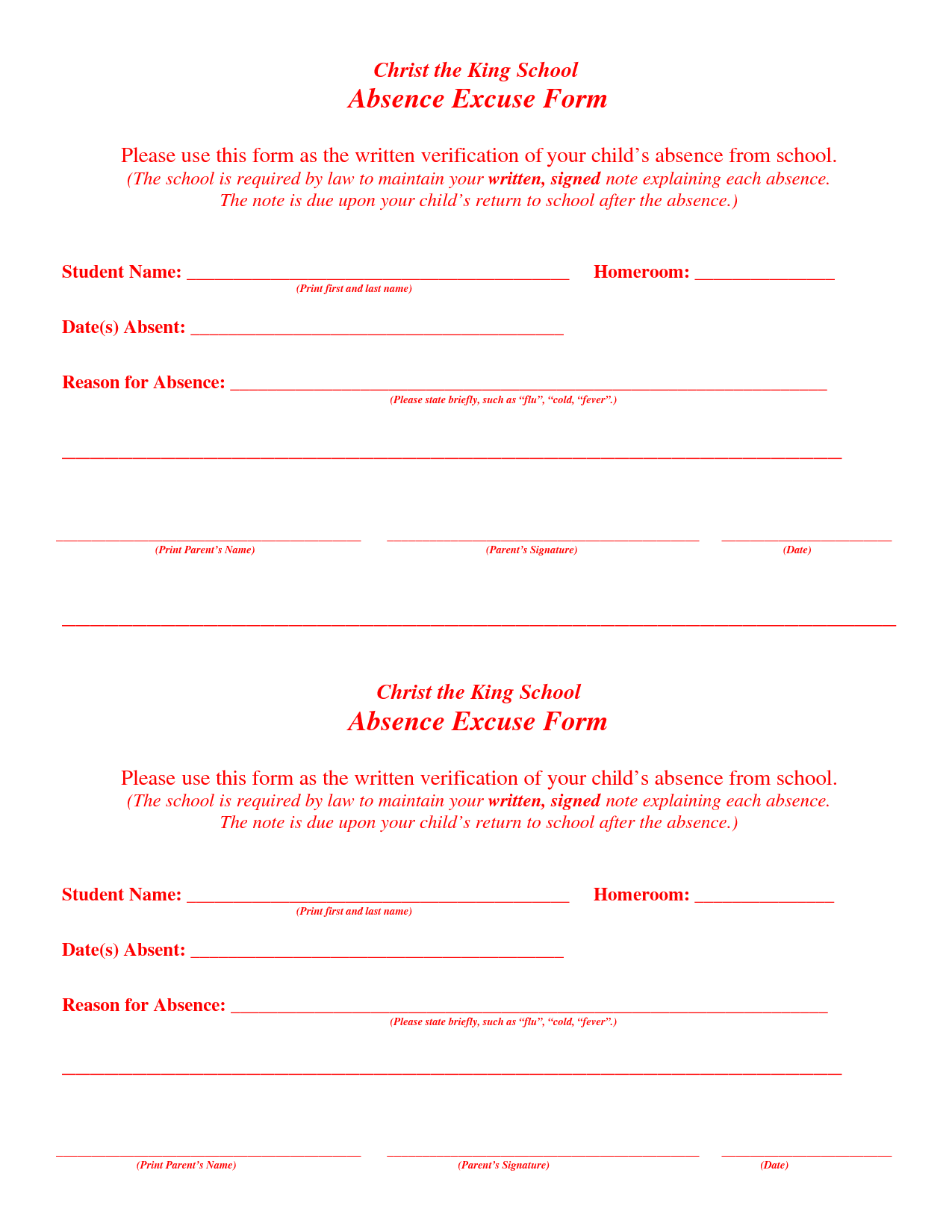 ... Excuse Doctors Note Template & Printable Doctor Excuse Note for Work