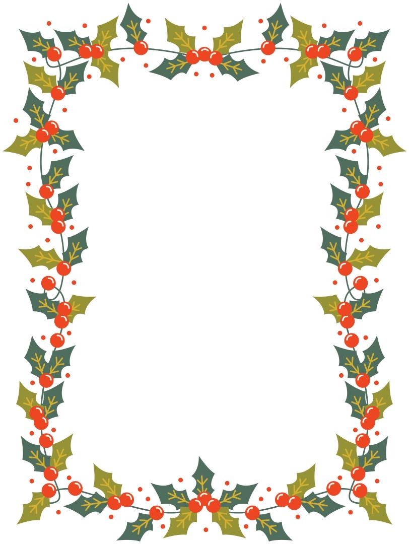 Free Printable Elf Christmas Border Template
