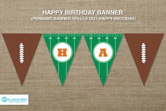 Free Printable Football Birthday Banner