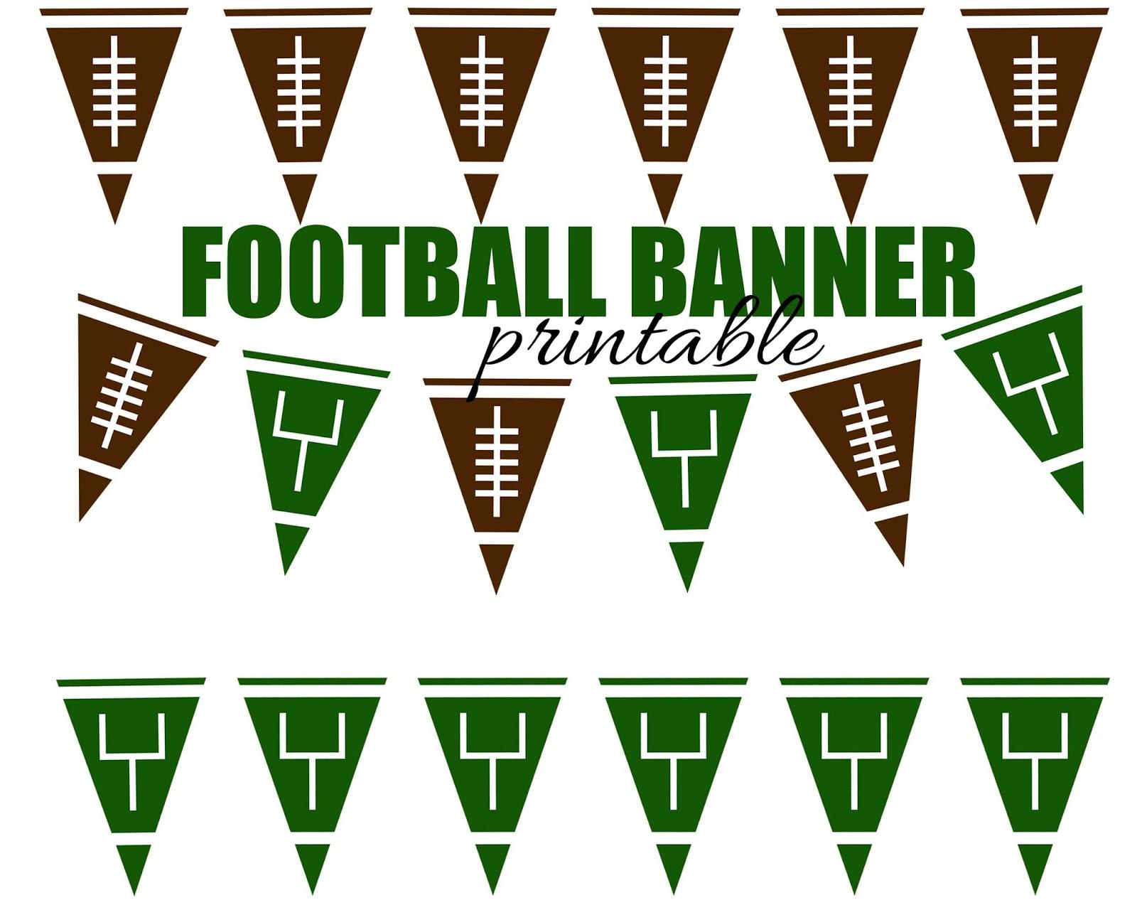 Free Printable Football Pennant Banner