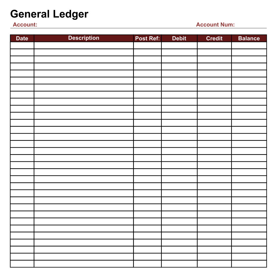 Printable Ledger Template, Free Printable Blank Ledger Sheets & Ledger ...
