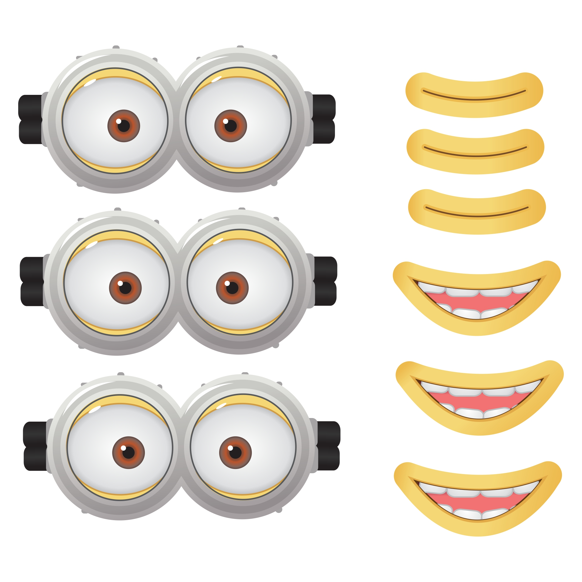 Printable Minion Eyes and Mouth
