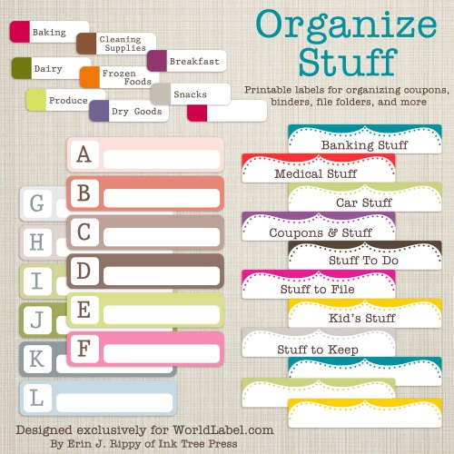 8 Images of Printable File Folder Labels