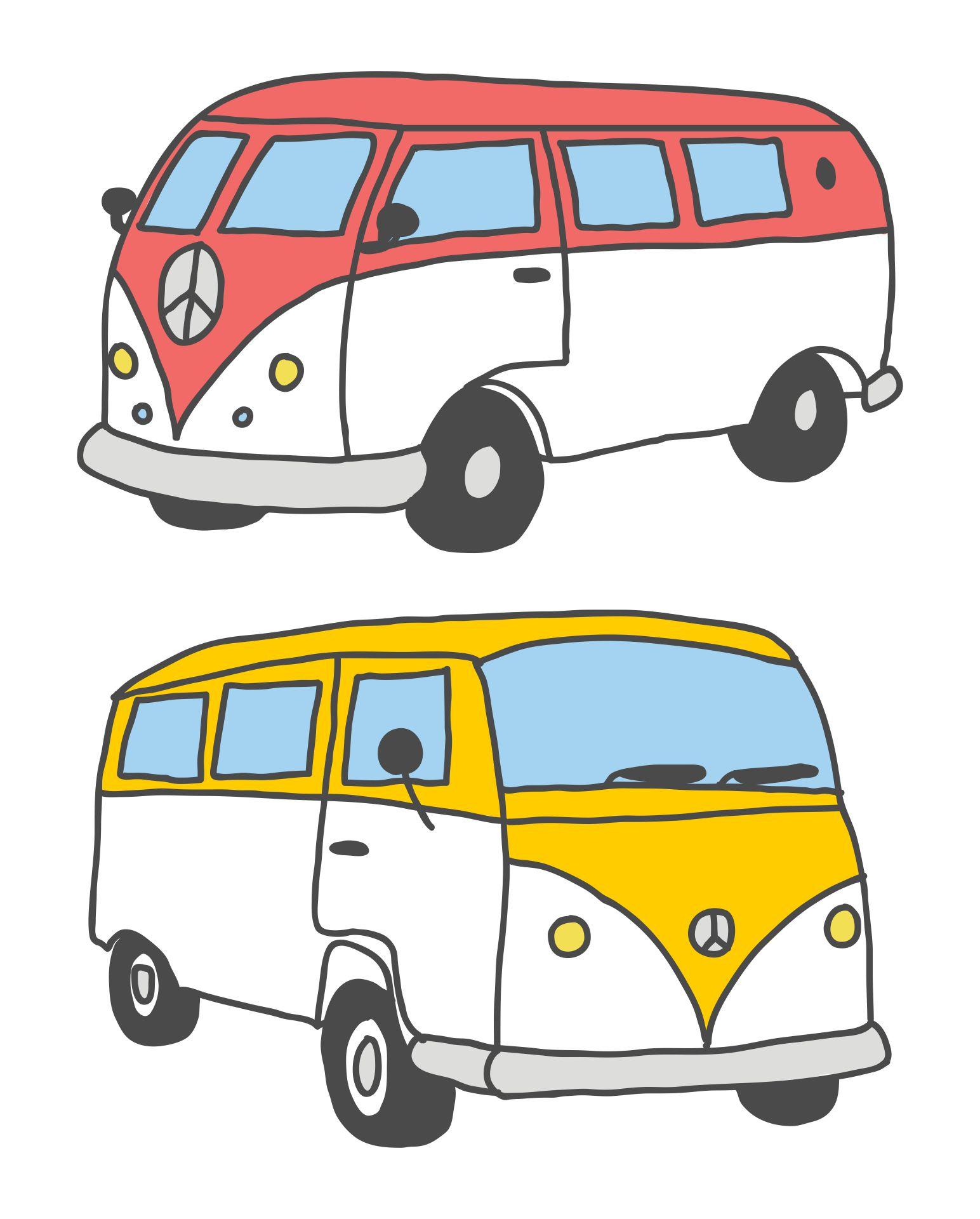 Printable Pics of VW Buses