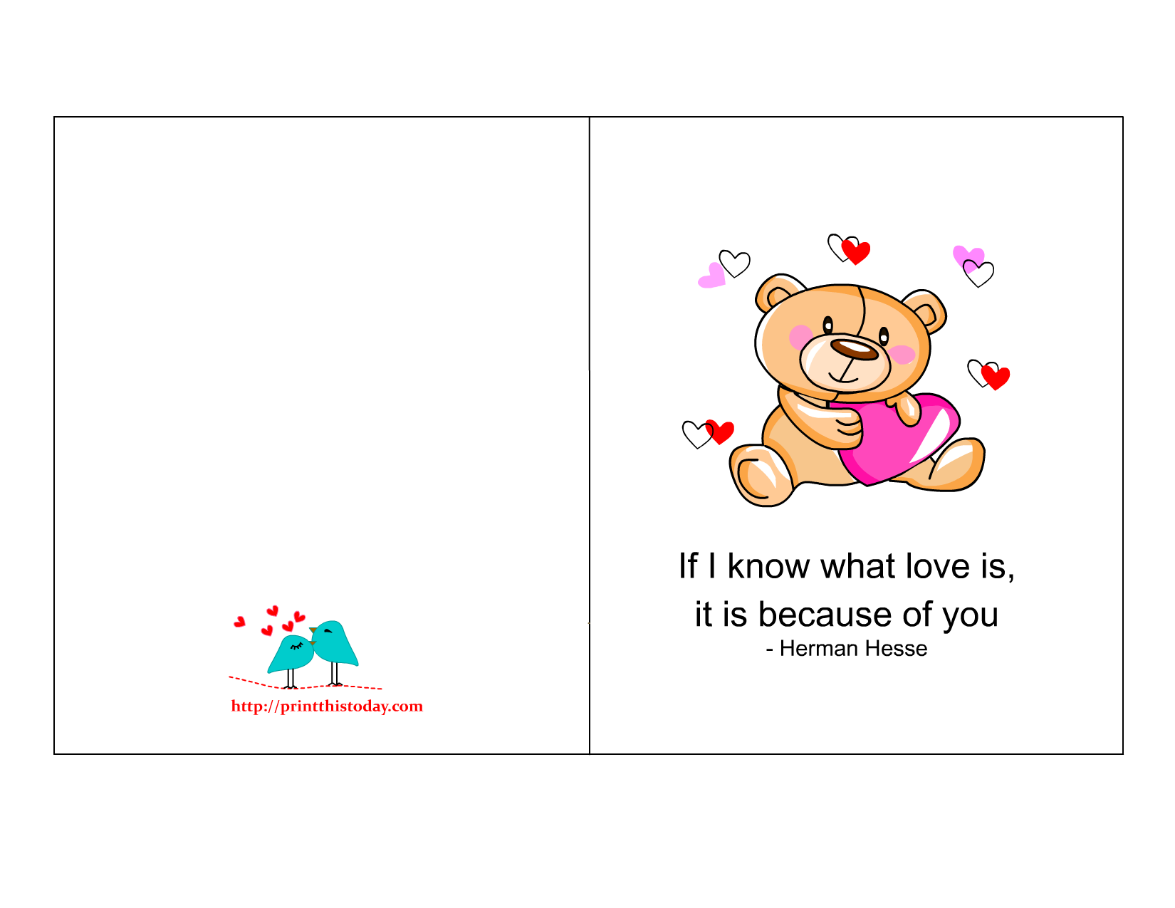 Free Printable Romantic Love Cards