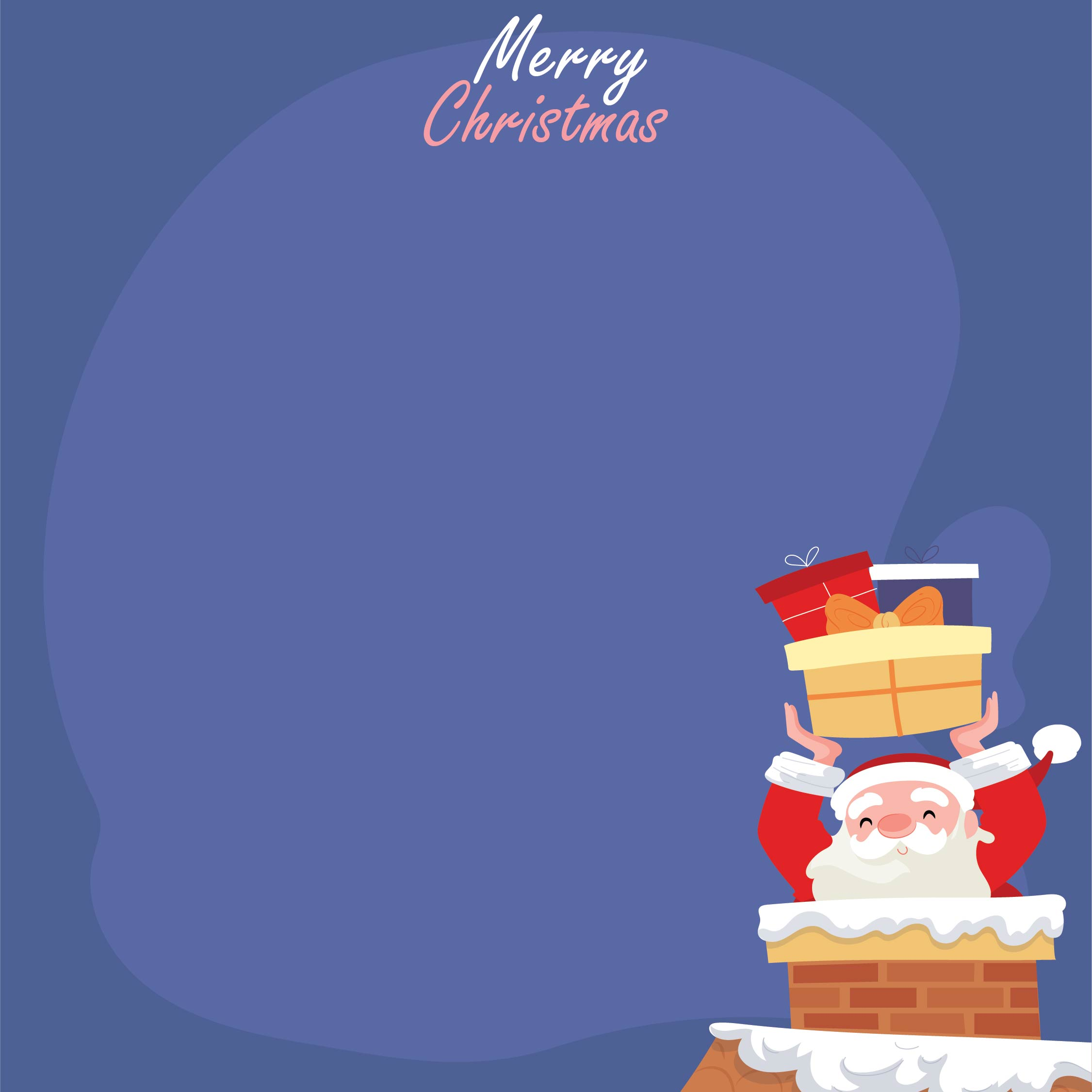 Printable Santa Claus Christmas Cards