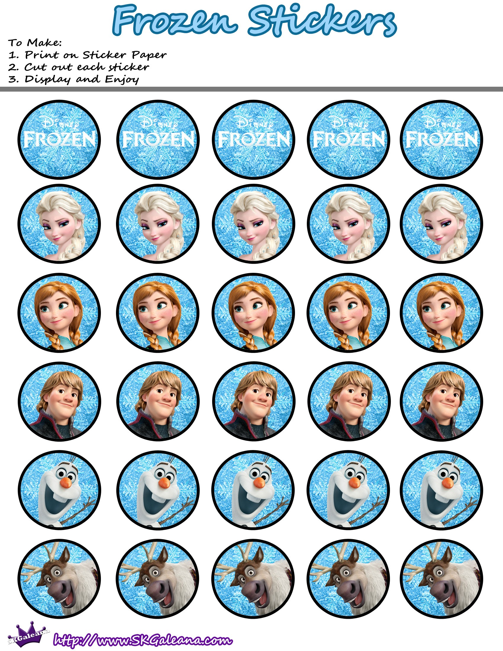 7 Images of Frozen Disney Stickers Printable Free