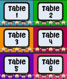 6 Images of Classroom Table Numbers Printable