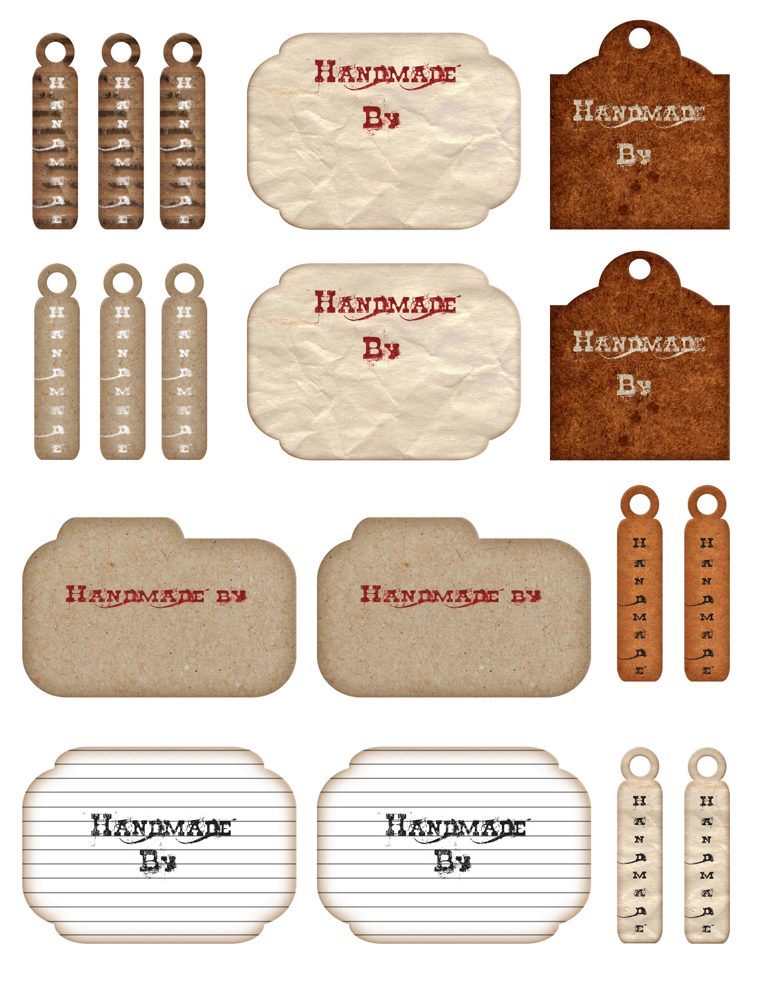 Free Printable Tags and Labels