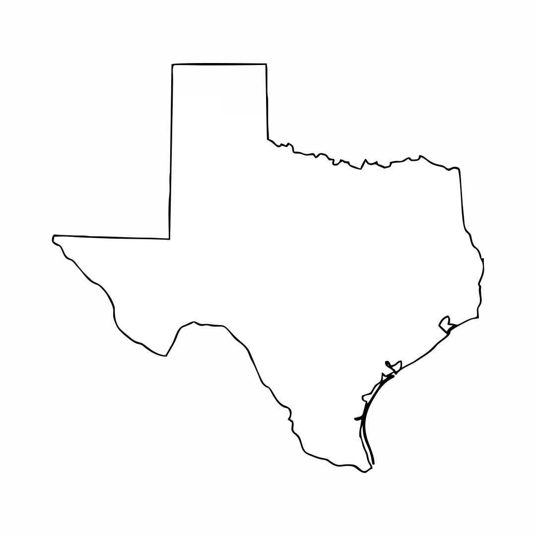 Texas Map Outline Printable