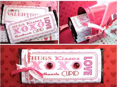 8 Images of Printable Valentine Candy Wrappers