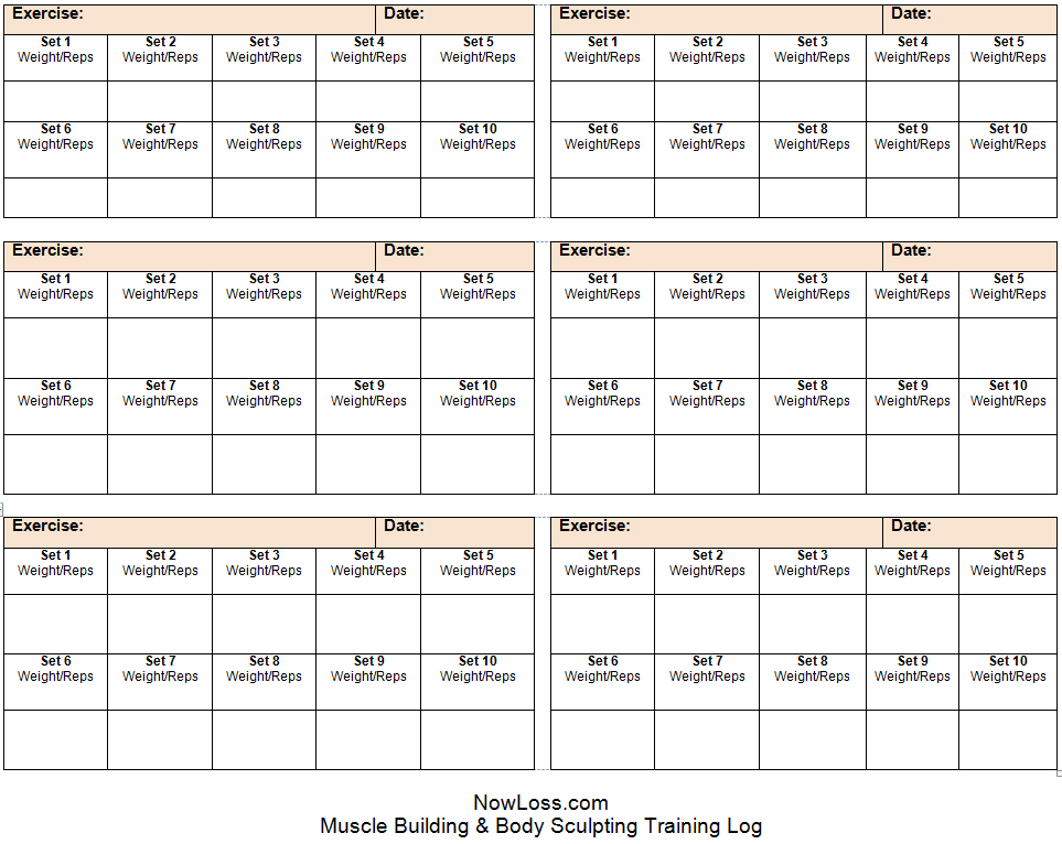 Lively image regarding free printable workout log