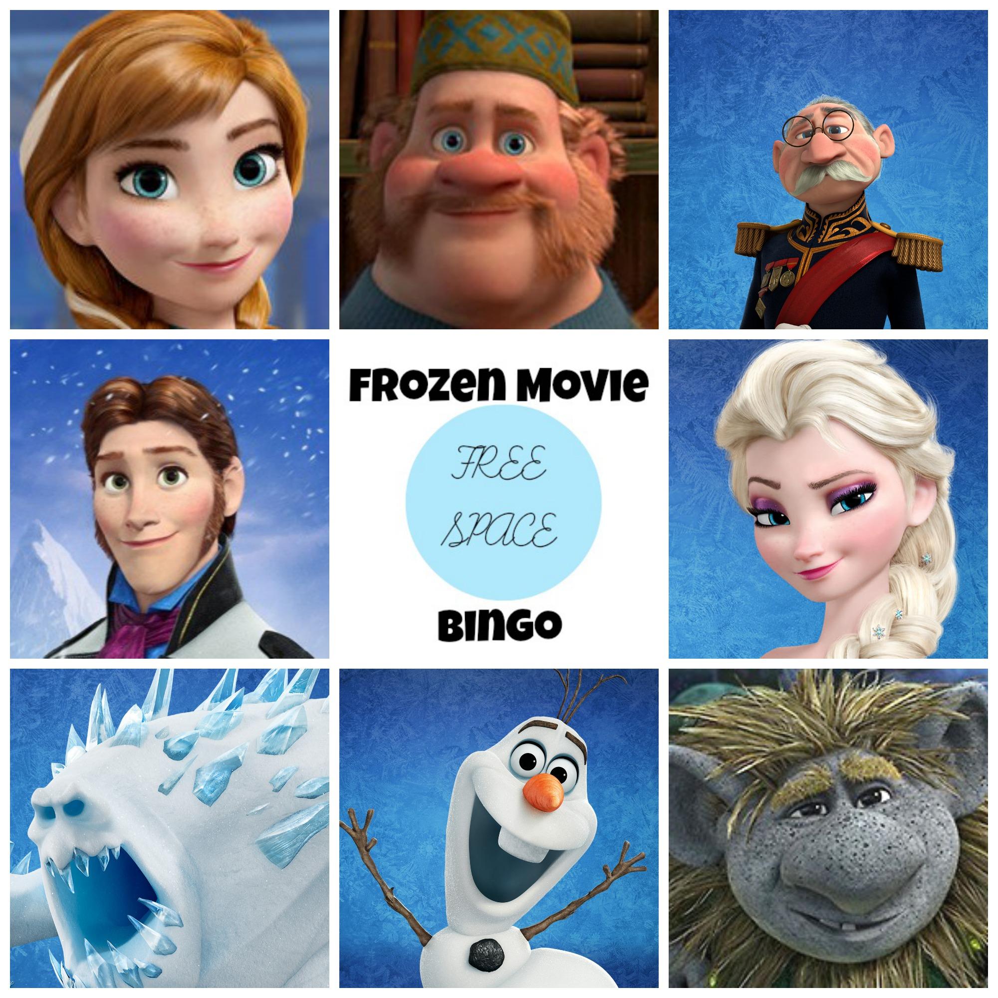 6 Images of Frozen Bingo Printable Varieties