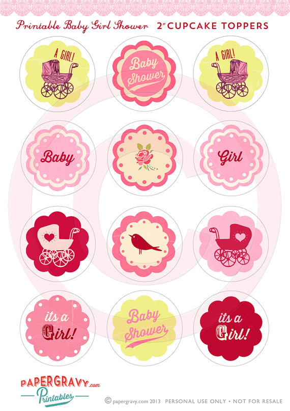 8 Best Images Of Baby Shower Cupcake Toppers Printable