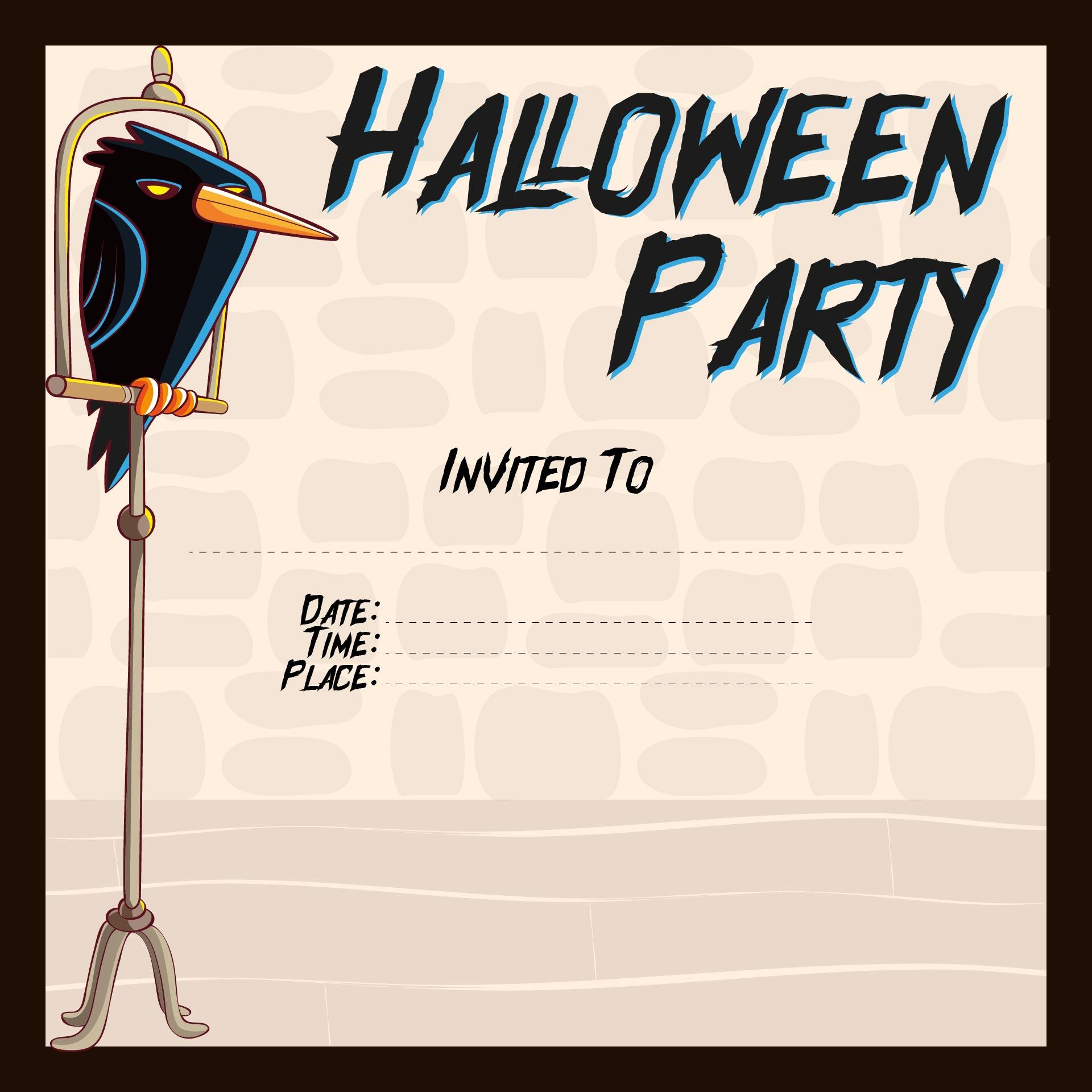 Halloween Party Invitation Printable Free
