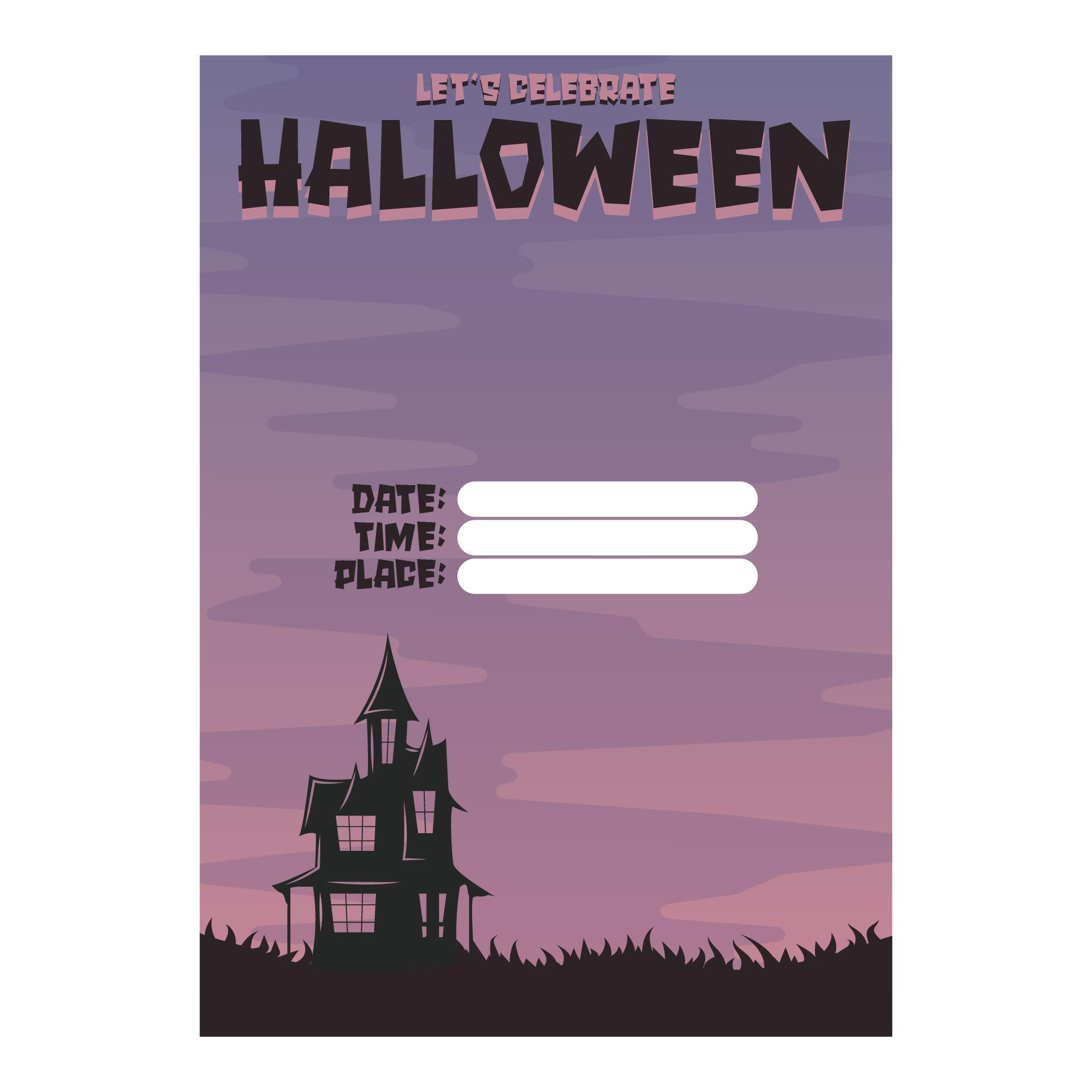 8 Images of Halloween Printable Party Invitations