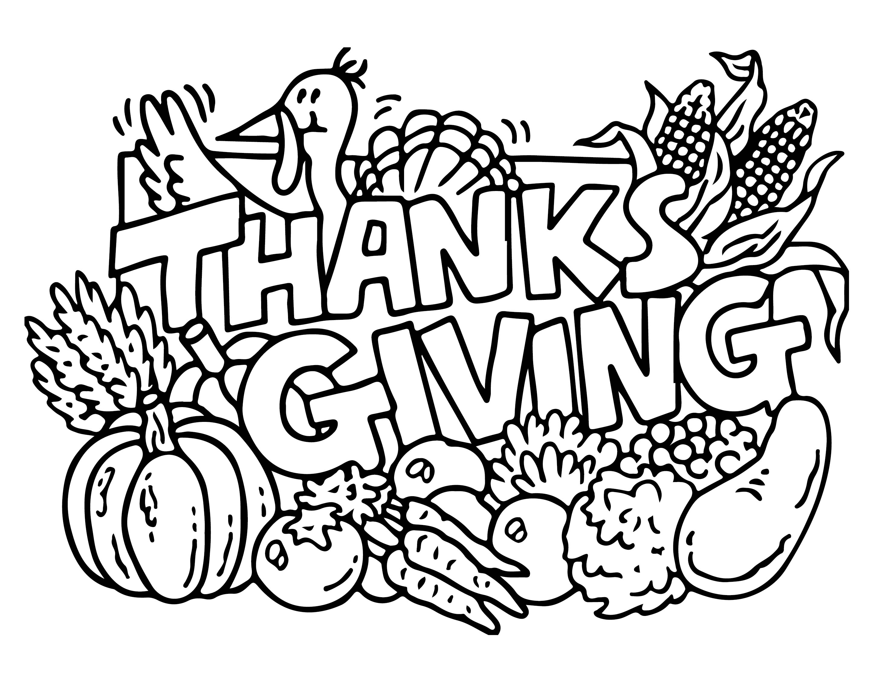Happy Thanksgiving Sign Coloring Pages