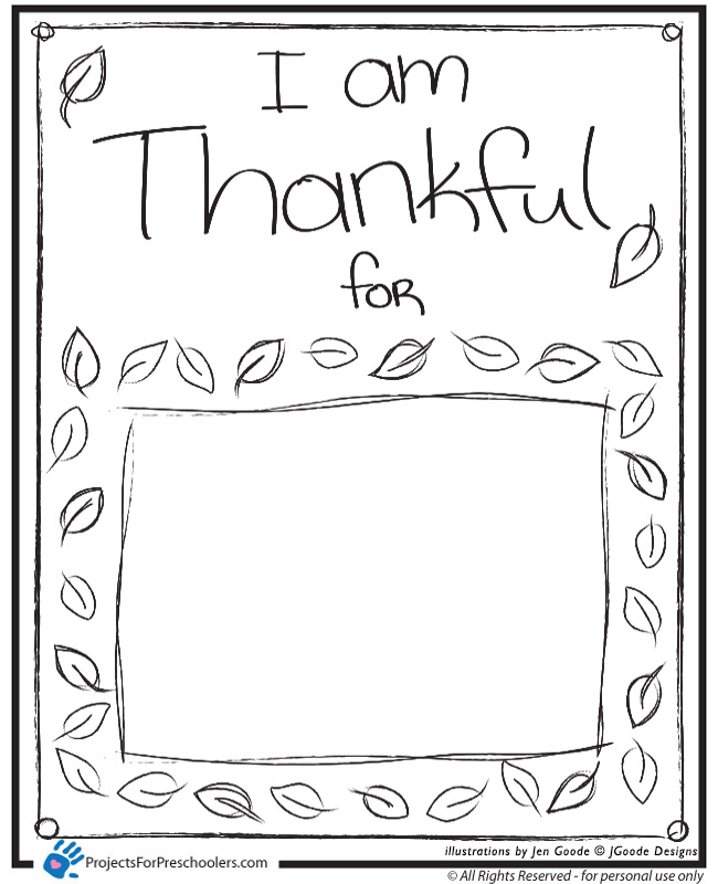 7 Images of What I AM Thankful For Printable