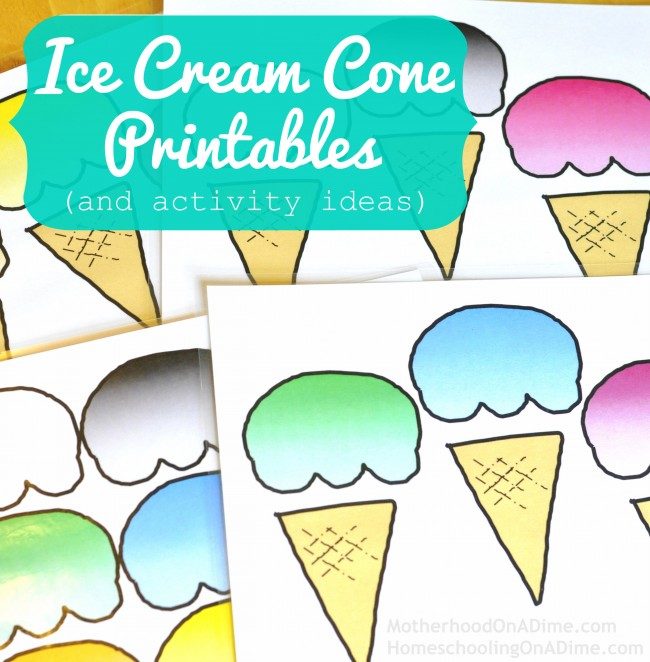 5 Images of Free Ice Cream Printables