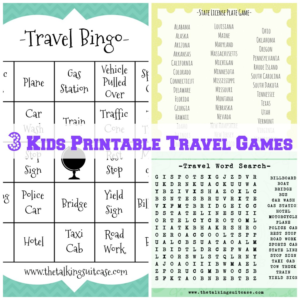 Kids Travel Games Printable