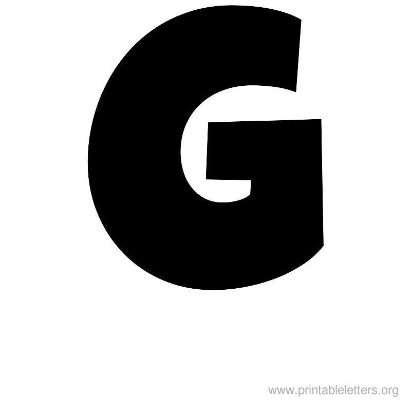 Large Printable Bubble Letter G