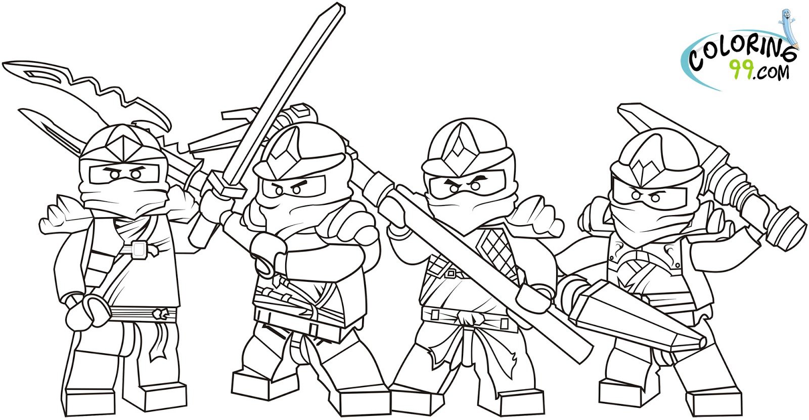 7 Images of LEGO Ninjago Coloring Pages Printable Free