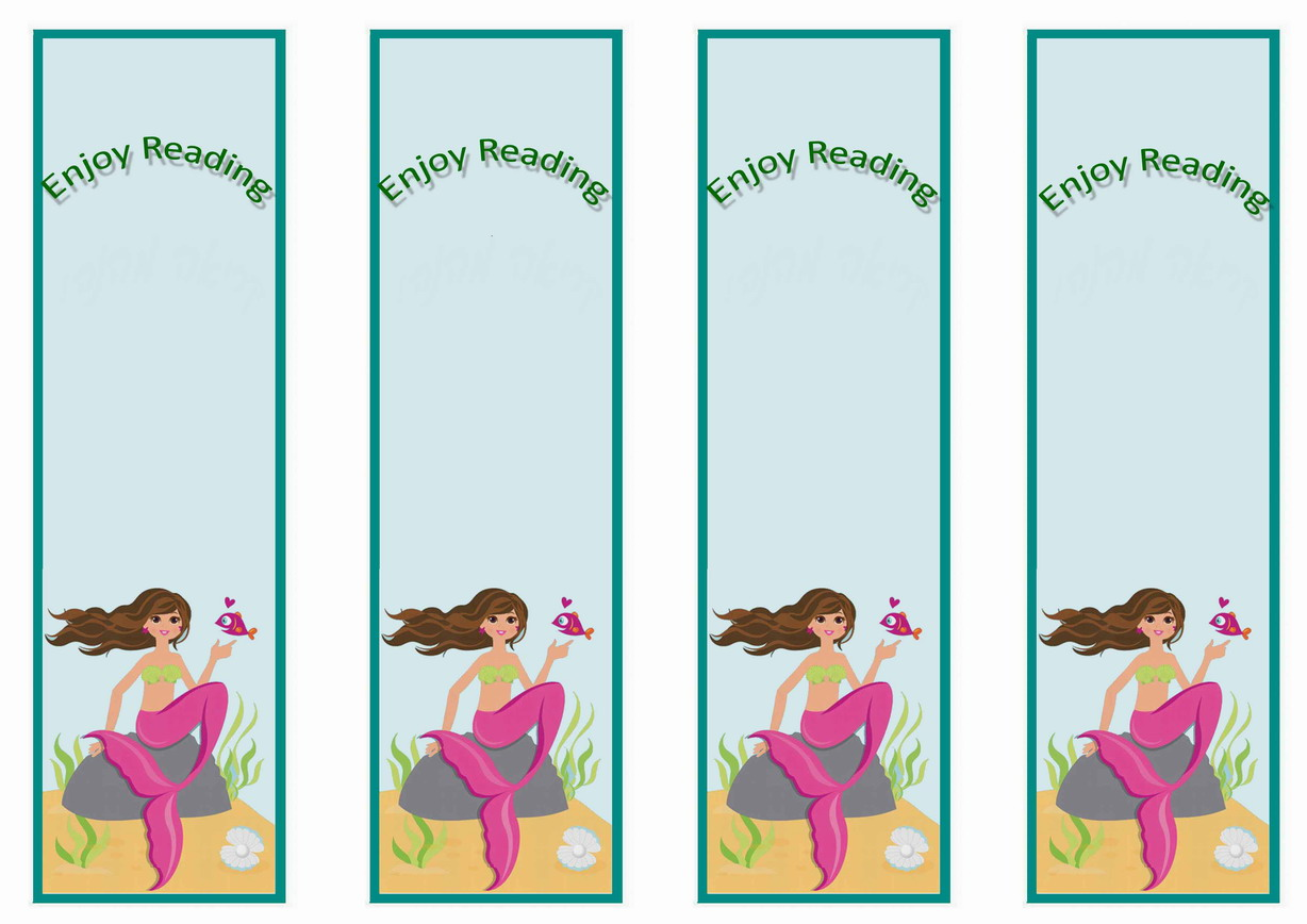 5 Images of Mermaid Bookmarks Printable