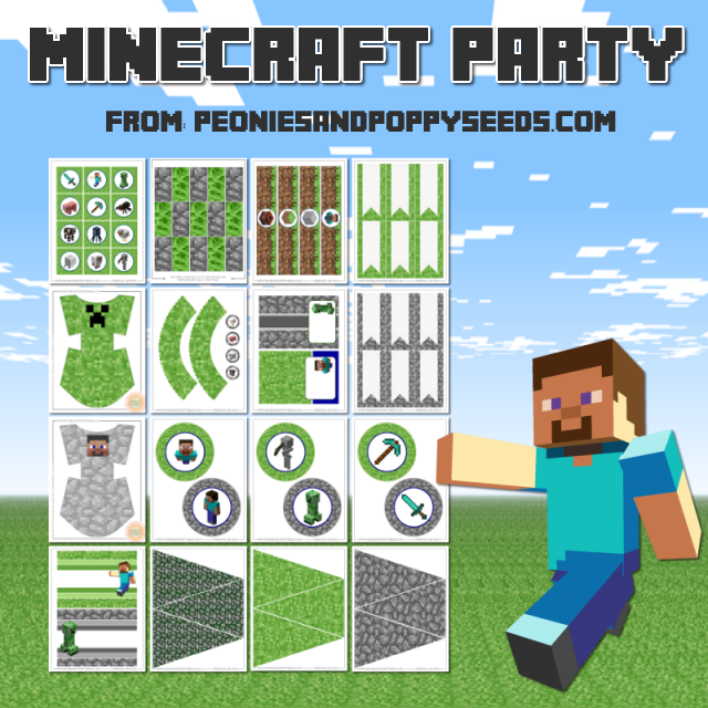 minecraft bookmark template - 9 best images of printable minecraft birthday favors
